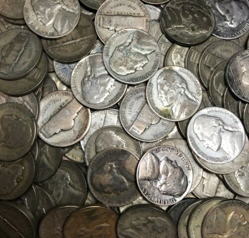 1942 Various Mint Marks $1 Face Value 35/% Silver Fine 20 Coin Lot 1945 War Nickels