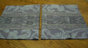 2-Purple-Multi-color-Geometric-Floral-Print-Cotton-Poly-Standard-Pillow-Shams