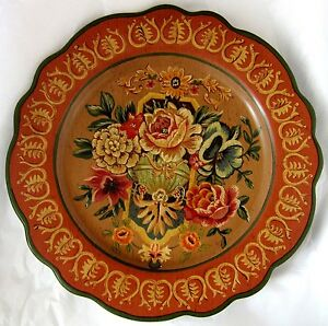 12-5-in-dia-PLATE-Antique-Design-Toyo-Designed-by-Lillian-August-Decorative-only