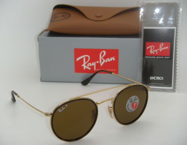 6110a52a382 New Ray-Ban RB 3647N 001 57 51mm Gold Frame Crystal Brown Polarized