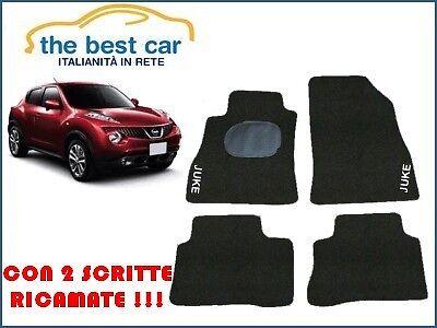 Nissan Juke  tappetini auto personalizzati con battitacco e 2 scritte ricamate