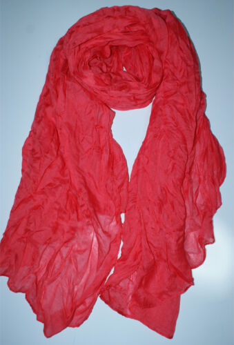2015  Womens Girls Soft Crinkle Long  Candy Scarf Wrap Shawl Stole 19 Colors