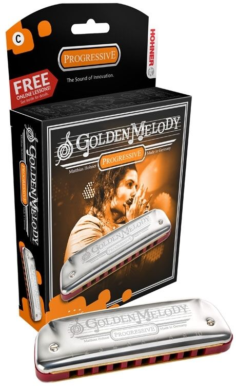Hohner Golden Melody Harmonica, Key of D, Brand New In Box