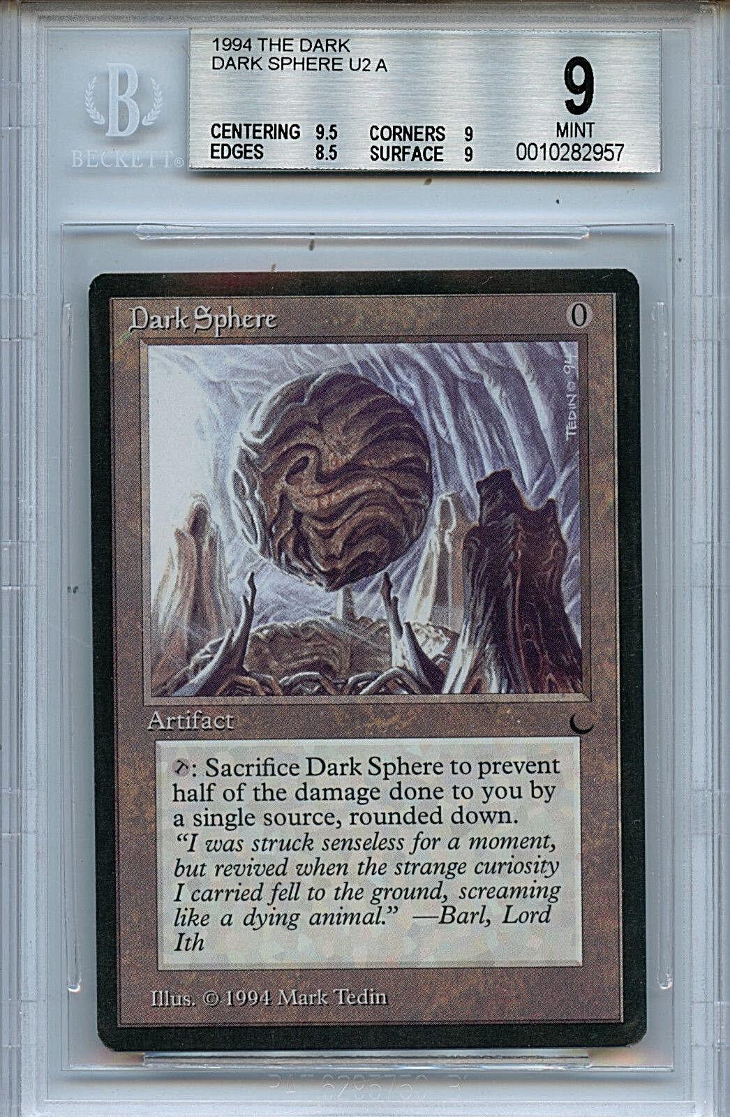 MTG Dark Dark Dark Dark Sphere BGS 9.0 (9) Mint card Magic the Gathering WOTC 2957 ca2212
