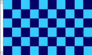 Navy Blue /& White Chequered Flag Checkered Motor Racing Sport Large 5 x 3 FT