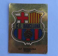 Panini Fussballsticker 1980   C.F. Barcelona  Gold Wappen Fussballbild