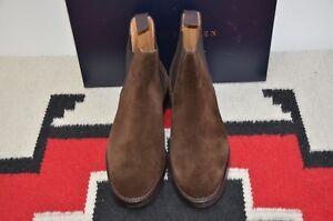 Ralph-Lauren-Purple-Label-Crockett-amp-Jones-Ruddington-Suede-Leather-Ankle-Boots