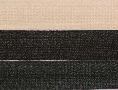 8mm Cotton Plain Weave Tape Fabric Dress Apron Bunting Twill Cream Black Green