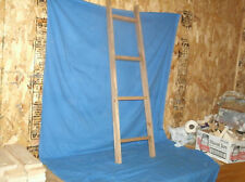 Primitive Wooden Ladder 42 in., 4 rung with Walnut Stain, ,rustic, quilt ,wall