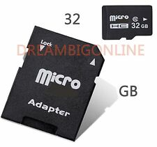 32 GB Universal Micro SDHC Flash Memory Card With Free Adapter Class 10 SDHC NEW