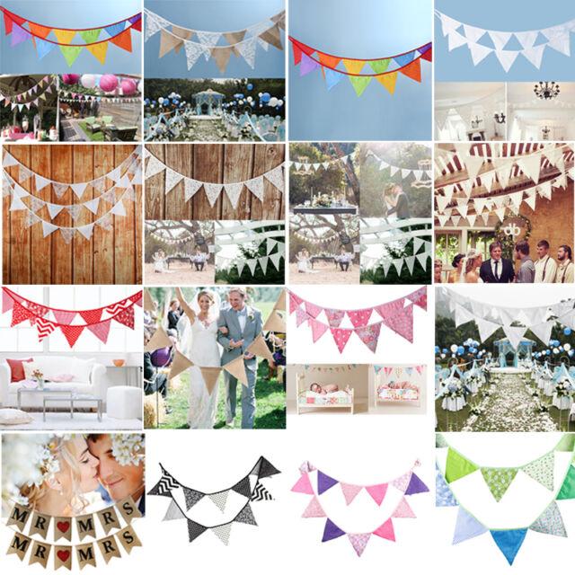 Vintage Music DIY Bunting Kit Wedding Party Birthday Decoration 3m 12 Flags