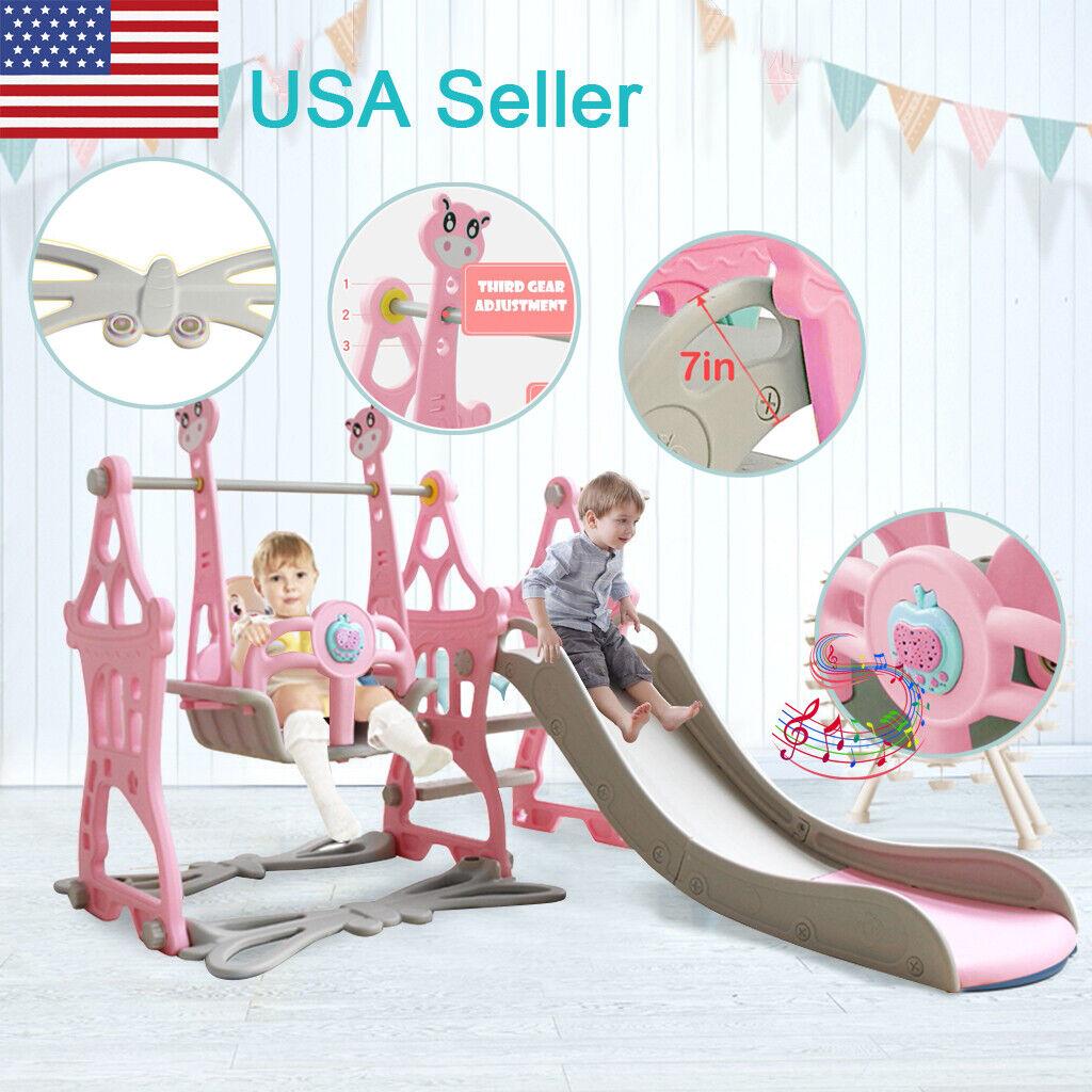 5 in 1 Toddler Play Set Indoor Outdoor Climbing Swing Slide
