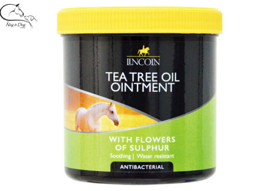 Lincoln Tea Tree Ointment with Flowers of Sulphur Soothing Horse Pony FREE P/&P