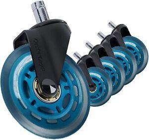 5 Wheels for Logitech Embody Heavy Duty Office Chair Soft Caster Rollerblade