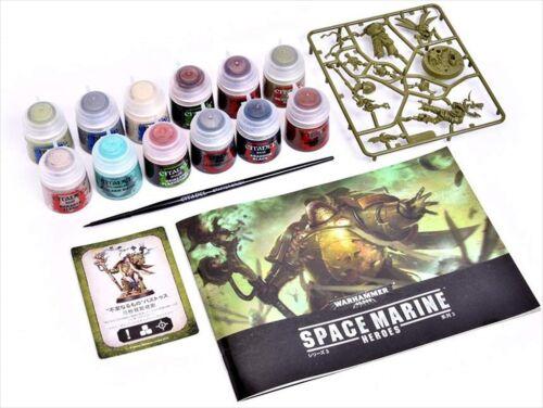 Warhammer 40,000 Space Marine Heroes Series 3 Basic Paint Set Games Max Factory
