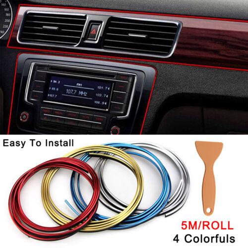 UK 1x 5M Car Styling Strips Trim Decals DIY Interior Door Sticker Moulding Line