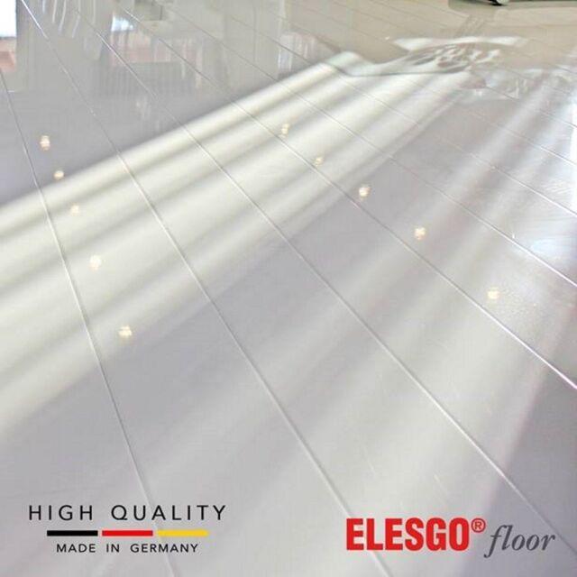 Elesgo Glamour Life High Gloss White Laminate Flooring