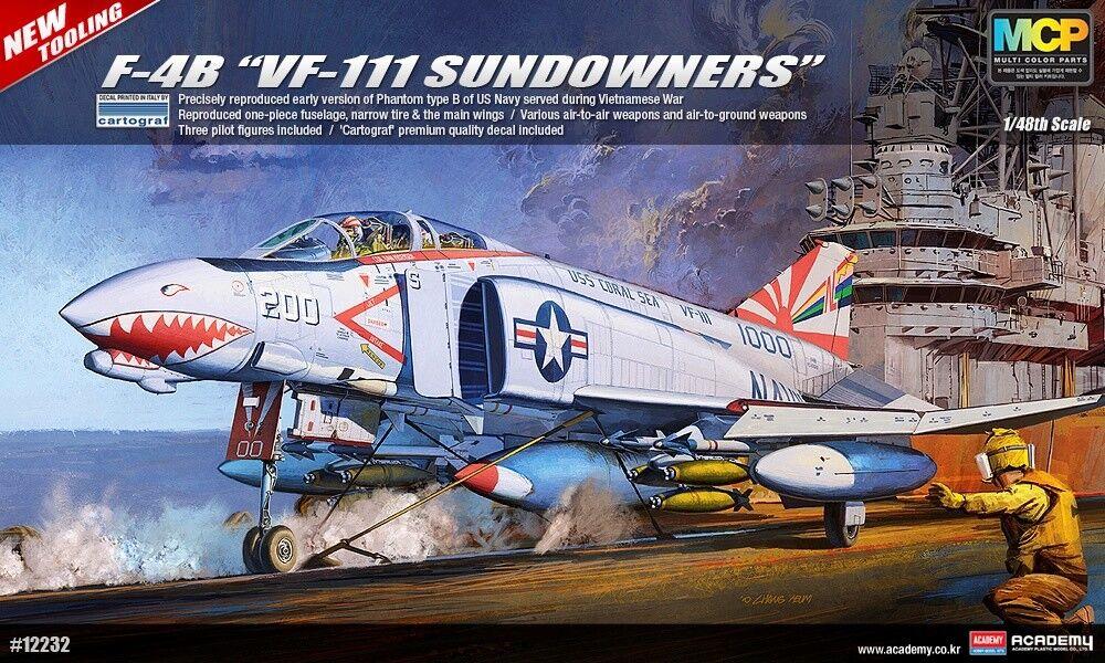 1 48 F-4B VF-111 Sundowners New Tooling ACADEMY HOBBY MODEL KIT