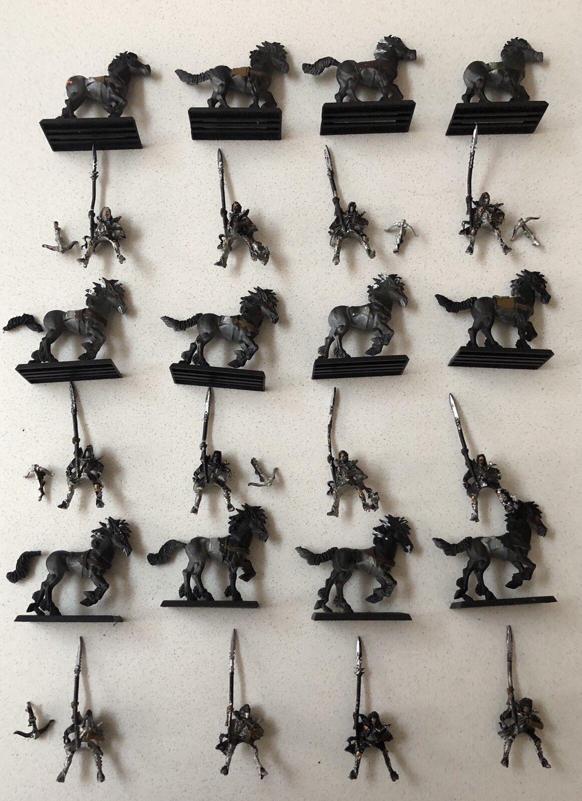 12 x Elfo Oscuro Dark Riders parte in metallo verniciato e plastica fuori catalogo GW 2000s