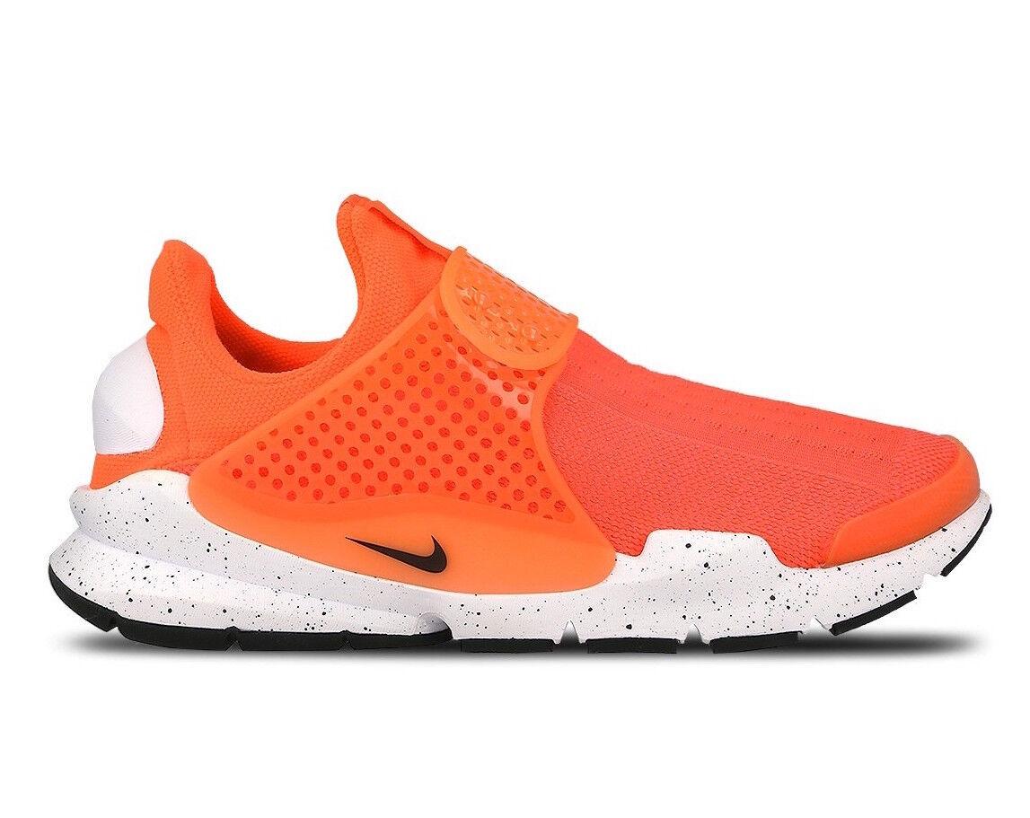 Size 8 Men's Nike Sock Dart Highlighter Athletic Light Weight 833124 800 orange