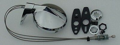 Mopar NEW Remote Mirror AND Matching Right Mirror 65-76 A B C Body PAIR !!