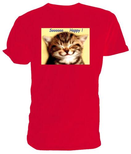 Soooooo...Happy T shirt Tabby Kitten Choice of size /& colours.