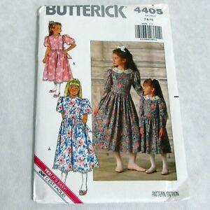 Butterick-Vintage-Girls-Dress-Pattern-4405-Uncut-1989-Sizes-7-8-10