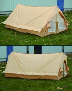 Französisches Zweimannzelt Khaki gebraucht Outdoor Camping Duo Tent Biwak zelt