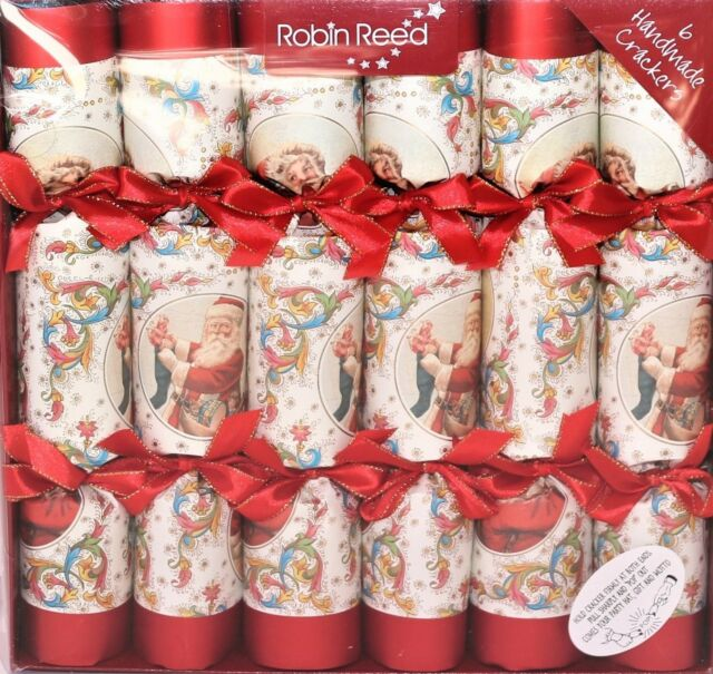 Robin Reed H8 Christmas Musical Crackers 8pc 10in Chorus Contains Whistles