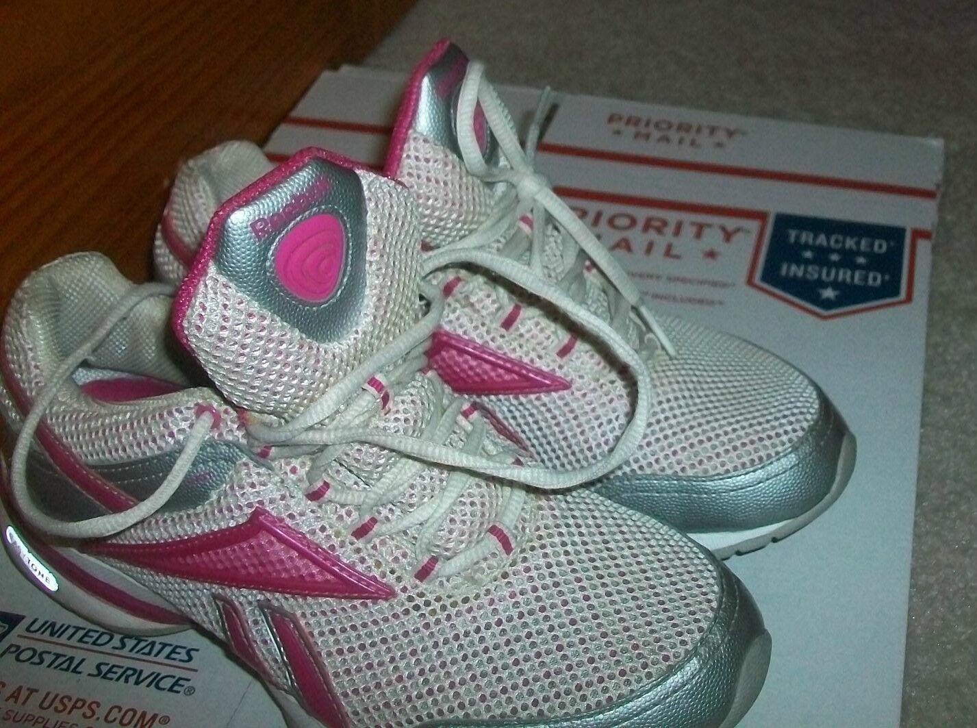 Reebok femmes Easy Tone Reenew Reenew Reenew Walking Running chaussures Taille 6 rose blanc c6c06a
