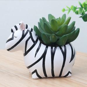 zebra flower pot cute animal garden plant succulent ceramic planter home Decor