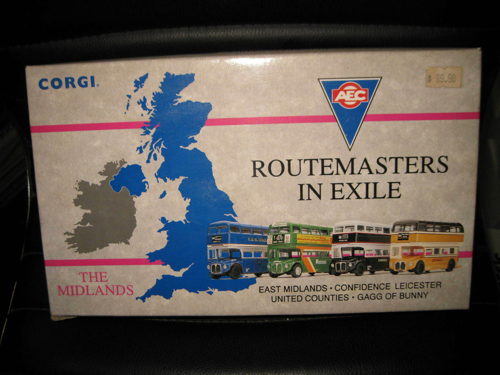 CORGI AEC ROUTEMASTER BUS SET OF 4 THE MIDLANDS ROUTEMASTERS IN EXILE