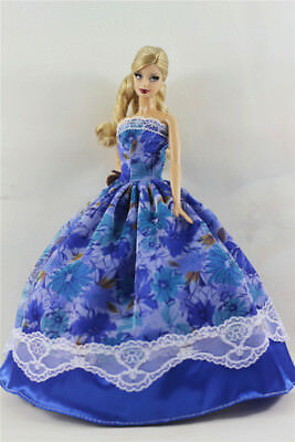 Red Fashion Princess Party Dress//Evening Clothes//Gown For 11.5in.Doll S333