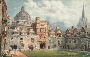 1918-VINTAGE-TUCKS-OILETTE-BRASENOSE-COLLEGE-OXFORD-POSTCARD-Bradford