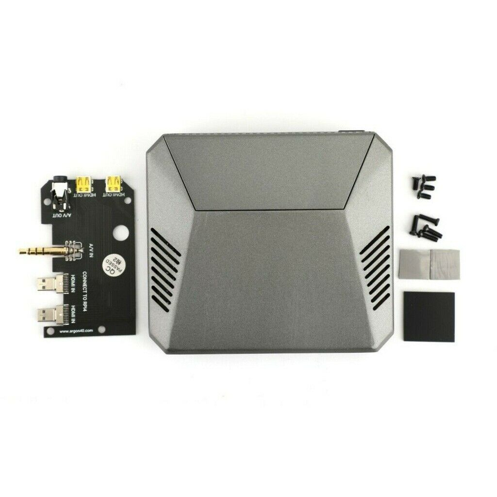 Wondiwe 1Set Black Acrylic Case Shell Protective Cover with Cooling Fan Screwdriver for Newest Raspberry Pi 4 Model B