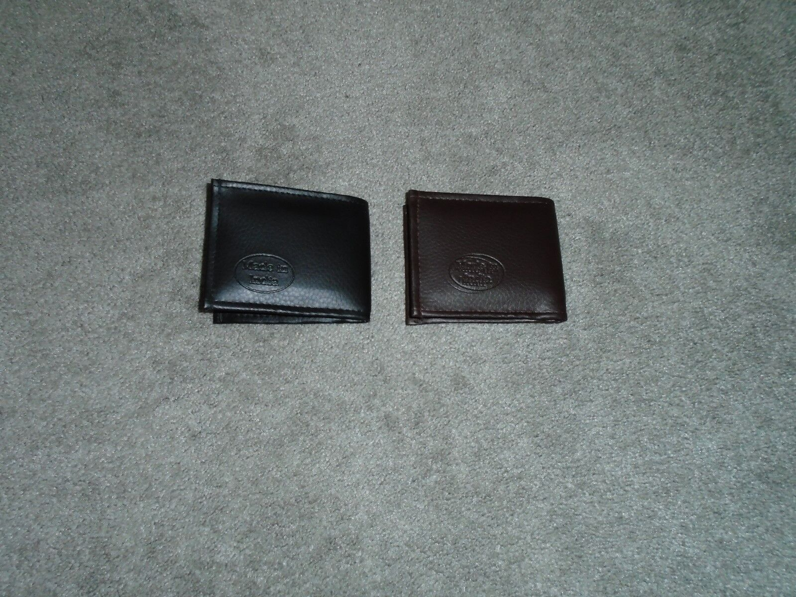 2 Men's Wallets Black & Brown Made In India New