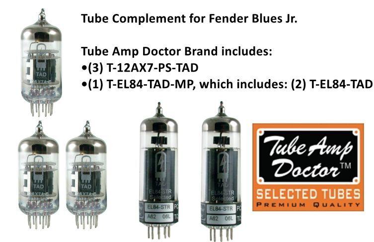 PREMIUM Tube set for Fender Blaus Jr electric guitar amplifier  TUBE AMP DOCTOR