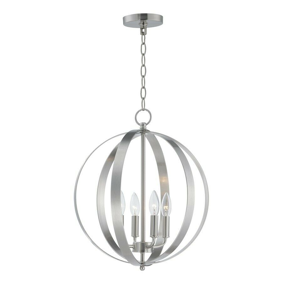 Maxim Lighting Provident 4-Light Chandelier in Satin Nickel - 10031SN