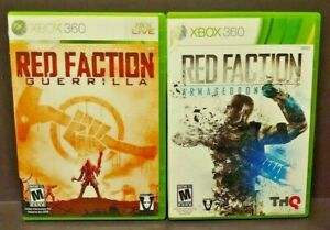 Red-Faction-Guerrilla-Armageddon-MicroSoft-XBOX-360-Game-Lot-Tested-Works