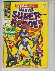 Marvel-Super-Heroes-15-VG-4-5-7-68-Black-Bolt-cameo-in-Medusa-story