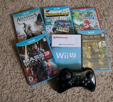 Lot of 7 Nintendo Wii U Games and official Nintendo Pro Controller! And more