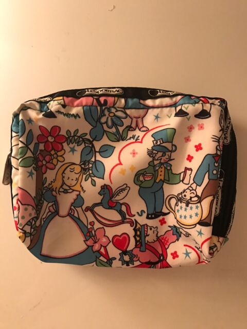 52466aaef7 LeSportsac Alice in Wonderland Pouch Cosmetic Make up Bag for sale ...