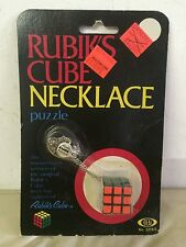 1982 RUBIK'S CUBE NECKLACE No. 2216-0 Ideal NOS Unopened Rare Vintage