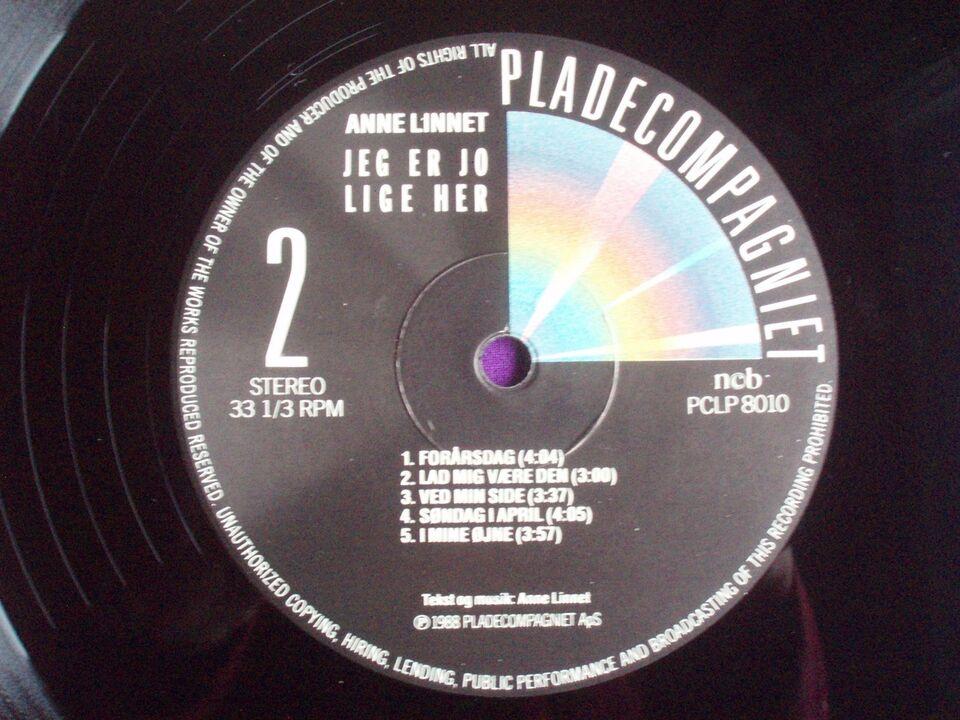 LP, Anne Linnet, 'Jeg er jo lige her'
