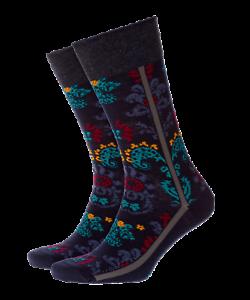 Discount-30-BURLINGTON-Socks-Flower-Camo-20579-Sock-Short-Tights-Blue-Fashion
