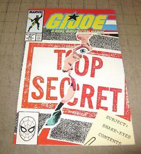 GI JOE #93 (Mid Nov 1989) FN Condition Comic - G.I. JOE - SNAKE EYES FACE REVEAL