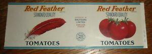 Red-Feather-Tomatoes-Label-Balfours-Hamilton-Ontario-Canada-28-Oz