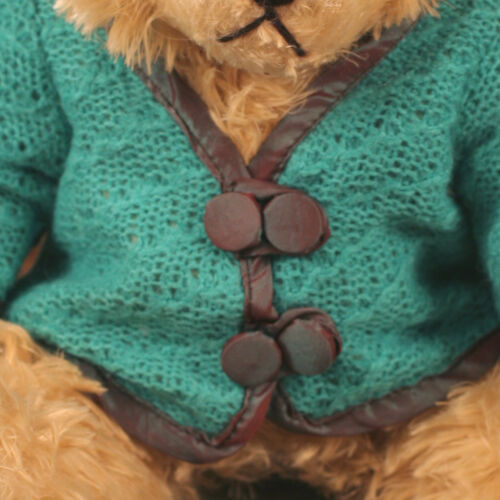 Teddy Bear /'Lee/' Settler Bears Handmade Collectable Gift Green Cardigan 30cms