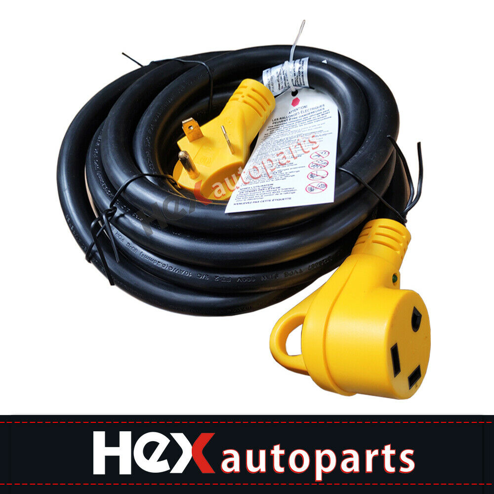 Hex Autoparts 50FT 50 Amp RV Extension Cord Power Supply Cable for Trailer Motorhome Camper