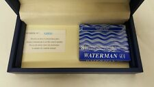 Waterman Carene Contemporary Black ST Fountain Pen M W/ 8 Florida Blue S0909930